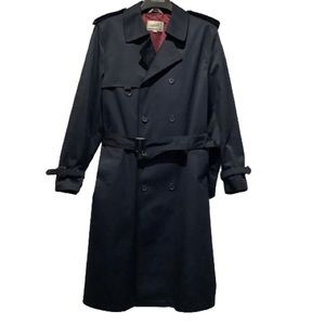 MENS BELLISSIMO DOUBLE BREASTED TRENCH COAT SZ44R